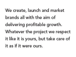 We create, launch and market brands